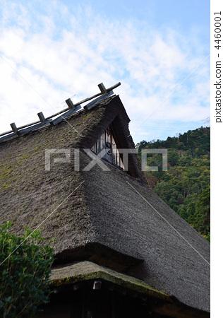 日式房屋 传统房屋 茅葺屋顶-图片素材 [4460001]