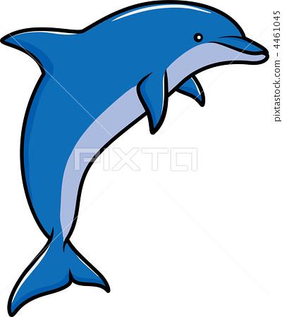 简笔画海洋动物海豚图片