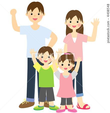 家庭 父母和小孩 孩子