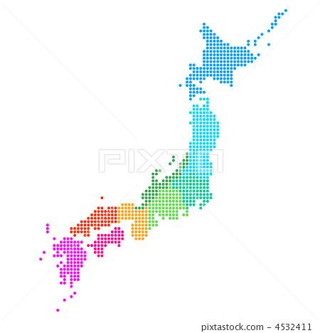矢量图 矢量 日本地图