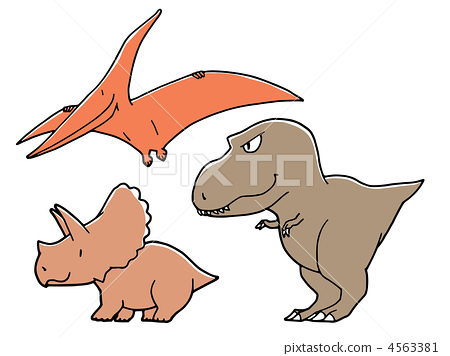 恐龙 霸王龙 三角龙