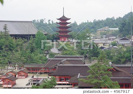 神社和庙宇 五重塔 日本的三大风景