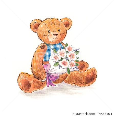 首页 插图 动物_鸟儿 陆生动物 熊 熊 泰迪熊 玩偶  *pixta限定素材仅