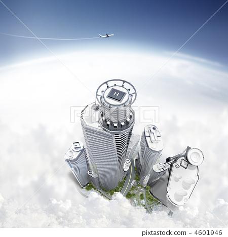 插图素材: 高层建筑 高层 摩天大楼