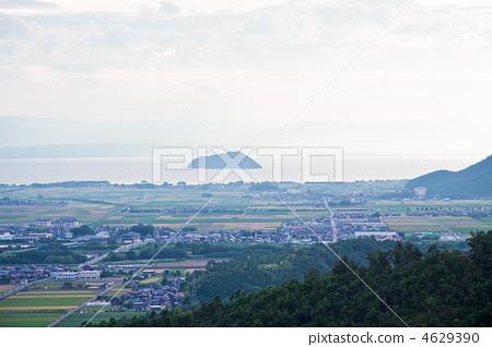 竹生岛 琵琶湖 滋贺县