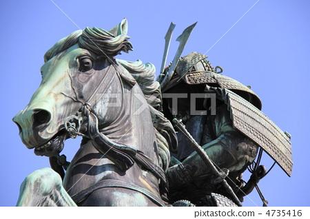 铜像 楠正成 军事指挥官-图片素材 [4735416] - pixta