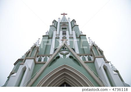 教堂 风景名胜 平户市