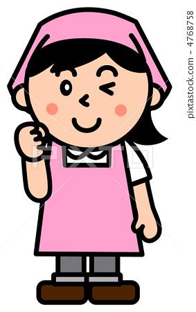 主妇 插图 保洁员 首页 插图 人物 女性 主妇 保洁员  *pixta限定素材