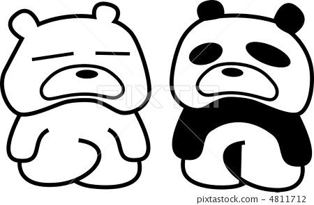 熊猫 可爱 黑白