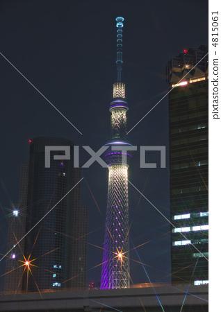 东京晴空塔 夜景 照亮
