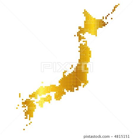 向量图 日本地图 向量