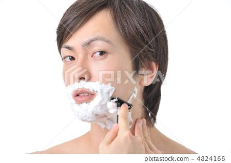 图库照片: 成型 剃胡须 日本美术沙龙