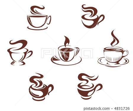 一杯茶 矢量图