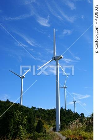 风车 风力涡轮机 产生