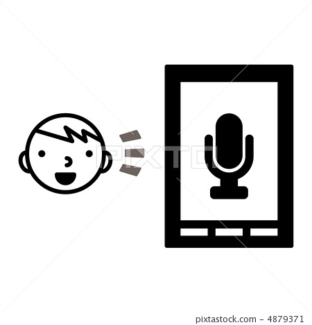 图库插图: 语音识别图标图片