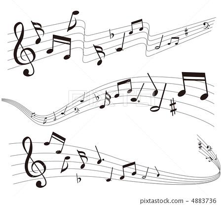 五线谱二分音符简笔画