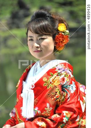 图库照片: 日式服装 穿着和服 婚礼