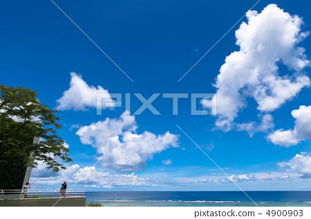 蓝色的大海 蓝蓝的天空