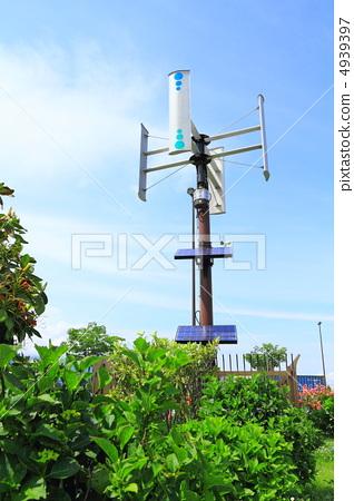 风能发电机 stock photos