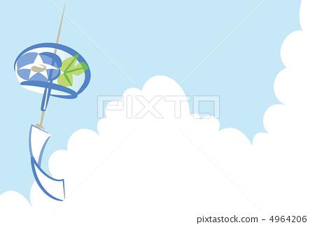 图库插图: 风铃 矢量 蓝天