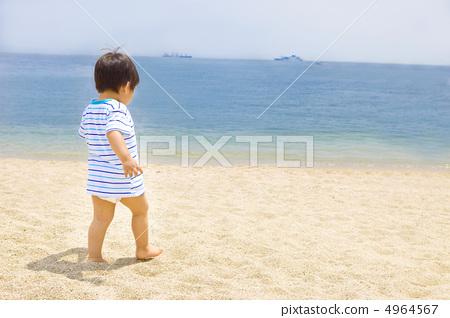 儿童 幼儿 大海