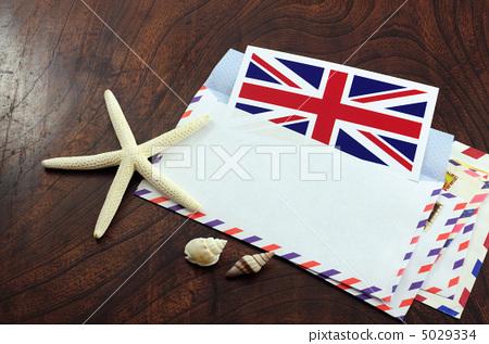照片: 英国国旗 航空邮件 海星