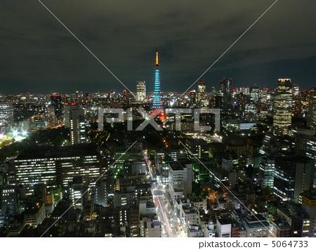 夜景 东京铁塔 东京塔