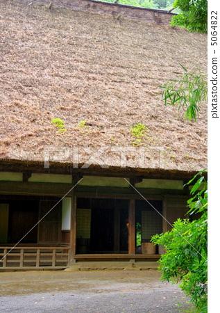 日式房屋 民居 茅草屋顶-图片素材 [5064822] - pixta
