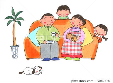 家庭 和谐 父母和小孩