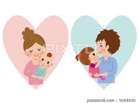 培养孩子 父母和小孩 婴儿