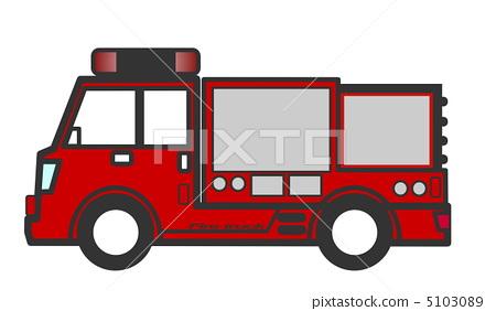 插图素材: 救火车 消防车 特种车辆