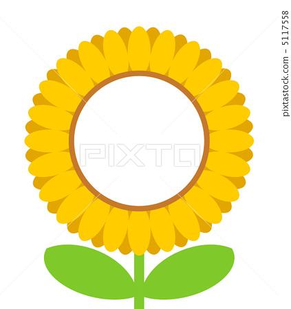 向日葵 插图 框架 帧 边框 首页 插图 植物_花 向日葵 框架 帧 边框