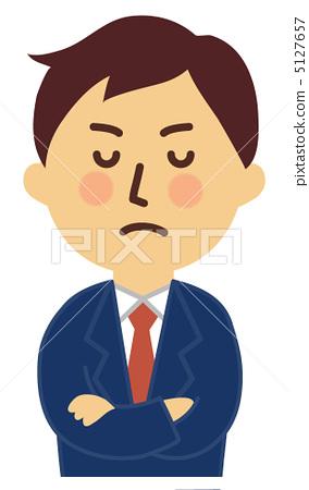 图库插图: 双臂交叉 协会成员 商务人士
