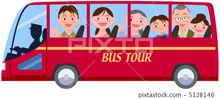 公共汽车 三代人 乘公交旅行
