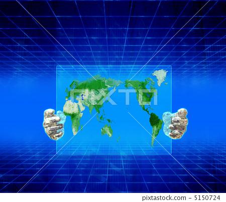 世界地图 空白地图 轮廓图
