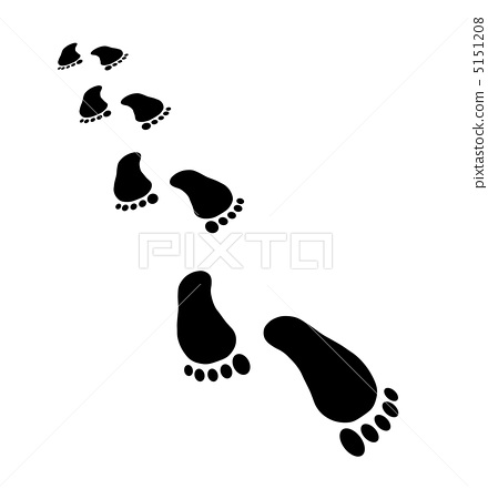 脚印手绘边框简单大方