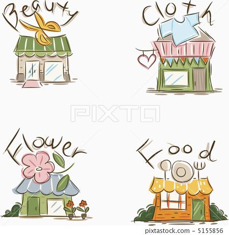 插图素材: 建筑 建筑结构 广告