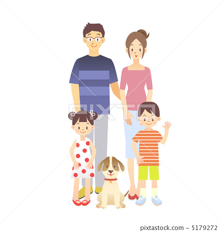父亲和孩子手绘插画