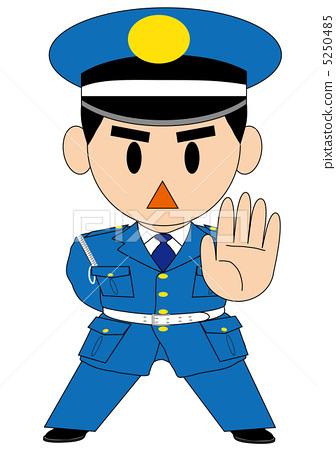 保安服饰矢量图