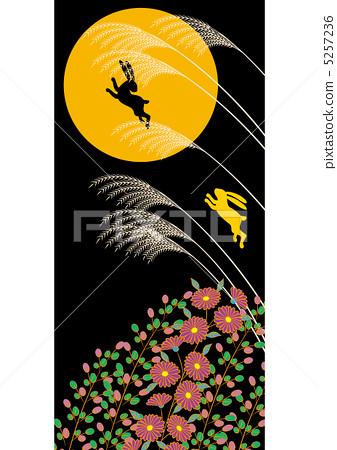 插图素材: 月圆之夜 中秋节之夜 收获月