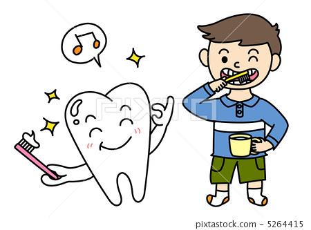 插图: 牙粉 牙刷 牙膏