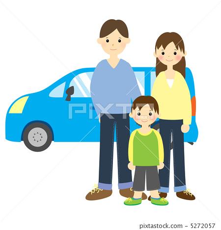 插图 工艺品 人物 家庭 家族 家人  *pixta限定素材仅在pixta网站,或