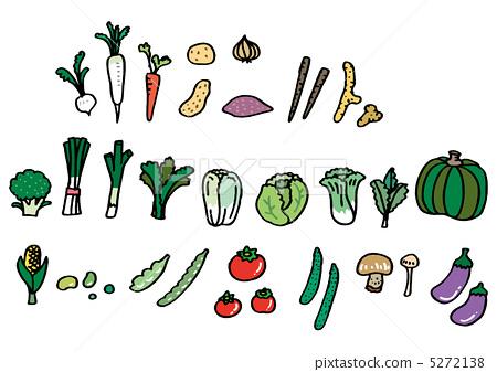 图库插图: 蔬菜 茄子 菠菜