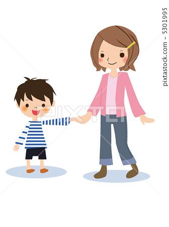 父母和小孩 母亲 可爱