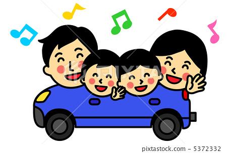 插图素材: 外出 驾车 驾驶