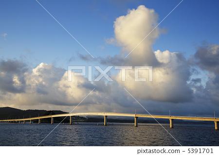 角岛大桥 角岛 云