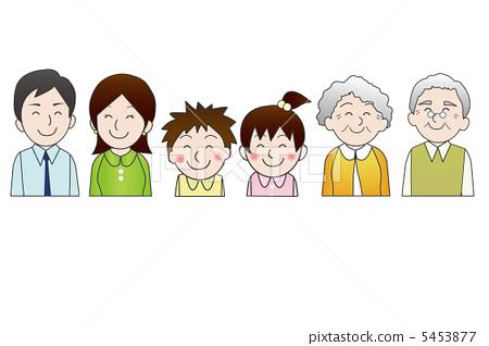家庭 三代人 夫妇