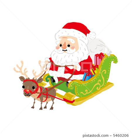 图库插图: 矢量图 圣诞老人 圣诞老公公