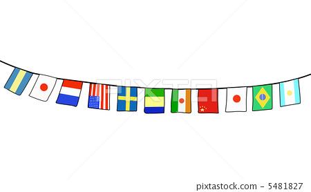 万国旗 5481827 : 世界の国旗 イラスト : イラスト