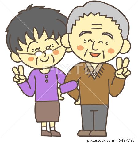 图库插图: 和平标志 胜利手势 矢量